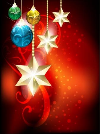 xmas linework: vector christmas holiday background vector illustration