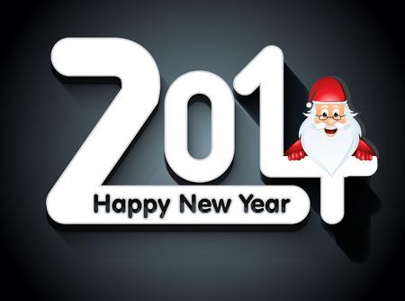 holliday: New Year Card With Santa vector illustration  Illustration
