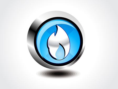 inflammable: Vector fire button vectpr illustration Illustration