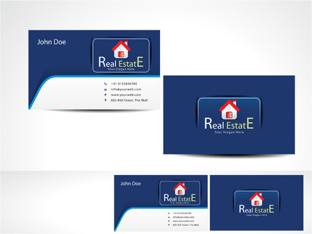 real estate agent: Real Estate Business Card vector illustration  Illustration