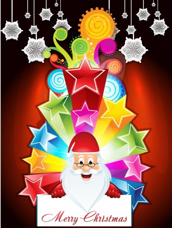 xmas linework: Abstract Christmas Background vector illustration