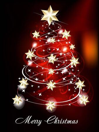 Christmas Tree Background vector illusration  Illustration