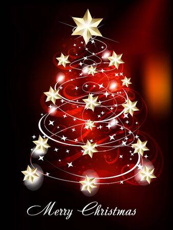 xmas linework: Christmas Tree Background vector illusration  Illustration