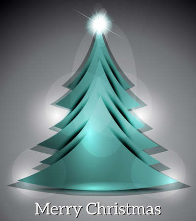illustraion: Vector Christmas Tree With Sparkle vector illustraion