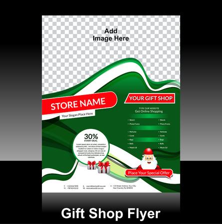 gift shop flyer Design vector illustration  Vector