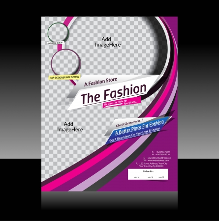 Fashion Flyer Design Vector Illustration