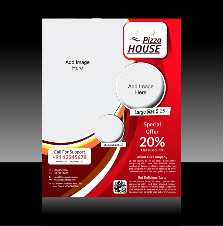 Pizza Store Flyer Vector illustration  Illustration