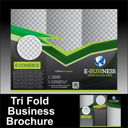 Vector Tri Fold Business Brochure Vector illustration  Vector