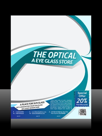 Vector Optical Flyer Design Vector illustration  Vector
