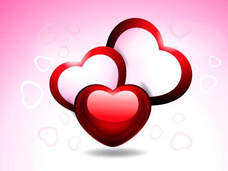 heart clipart: Valenstine day Card Vector illustration  Illustration