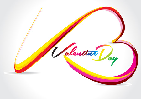 shin: Vector Colorful Love Wave Background