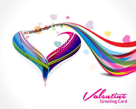 Wave Heart Shape Background Vector illustration