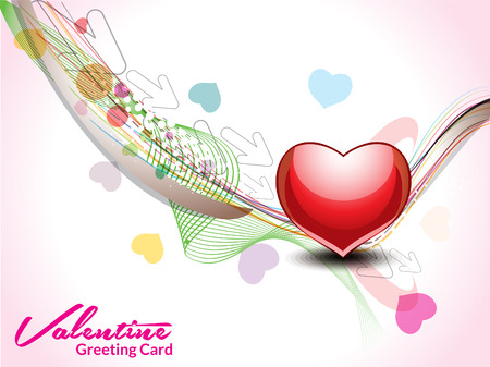 Wave love background Vector illustration  Stock Illustratie