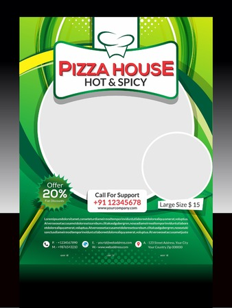 Pizza Store Flyer Design Vector illustration  Vector