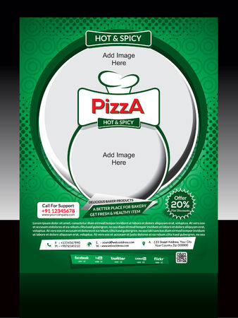 Pizza Store Flyer Template Vector illustration  Vector