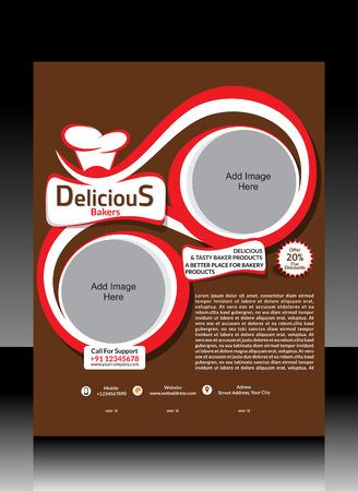Bakery Shope Flyer Design Vector illustration  Vector