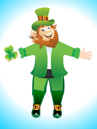 Leprechaun Cartoon Vector illustration  Vector