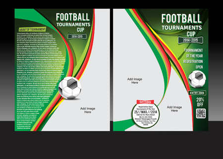 Football Tournament Cup Flyer Vector illustration