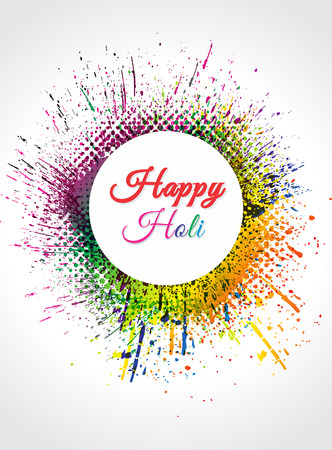 thali: happy holi Background vector illustration