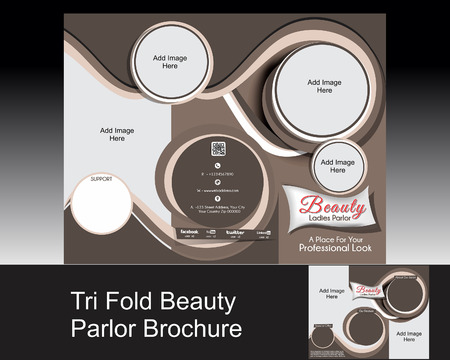 tri fold parlor brochure Vector illustration  Vector