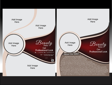 beauty parlor: Beauty Parlor Flyer Template vector illustration