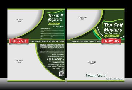 Golf Template Flyer vector illustratie