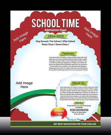 School Promotion Flyer Template Vector illustration  Vector
