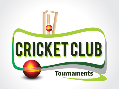 cricket game: Cricket Background With Ball Vector illustration