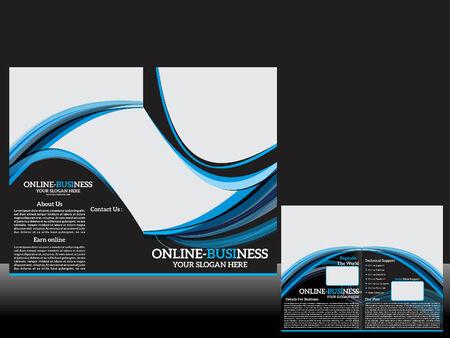 Bi Fold Corporate Brochure Vector illustration