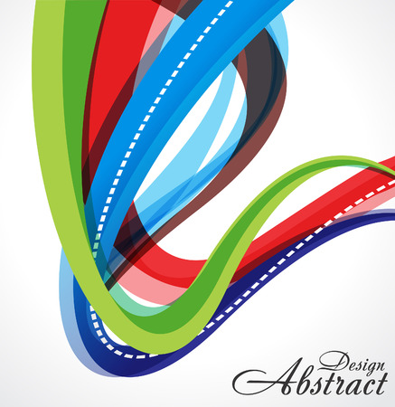 abstract Colorful Wave Background  Vector illustration Vector