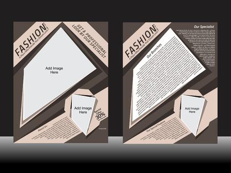 Fashion Parlor Flyer Design Vector