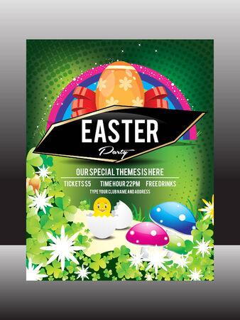 Easter Day Flyer Design Vector illustration