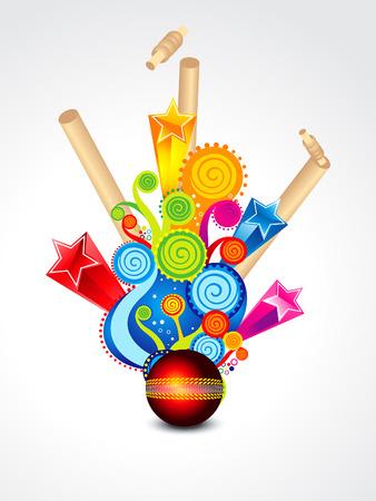 cricket stump: Colorful Exploade Background Vector illustration