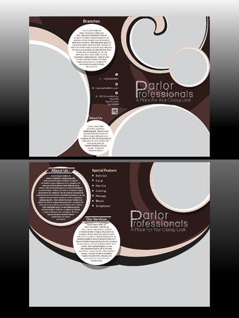 Bi Fold Professional Parlor Brochure Vecto illustration  Vector