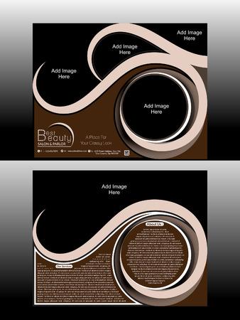 parlor: Beauty Parlor & Salon Flyer Vector illustration