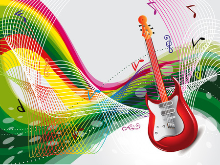 colurful: Abstract Colurful Musical Background Vector illustration