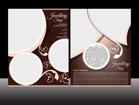 Jewellery Flyer Template Illustration