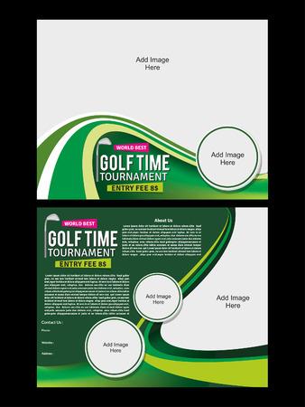 Golf Flyer Template illustration