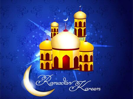 Blue Ramadan Background Illustration  Vector
