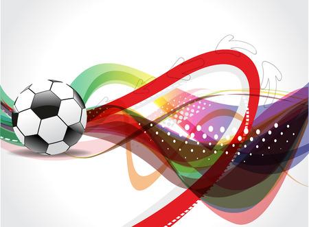 bannière football: Colorful Football Illustration de fond