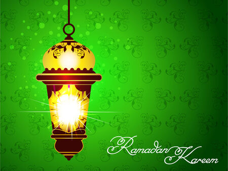 Green Ramadan Background illustration  Vector