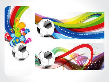 bannière football: Football Bannière illustration vectorielle de fond