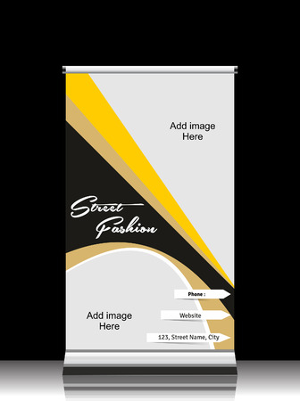 Vector Fashion Roll Up Banner  Vector