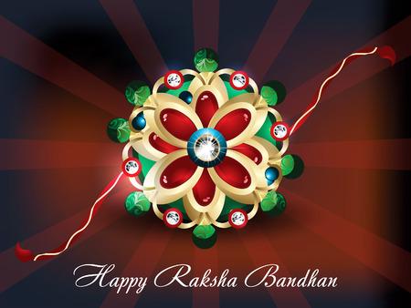 abstract raksha bandhan background vector illustration Vector