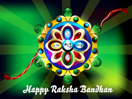 raksha: raksha bandhan Background vector illustration  Illustration