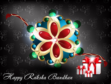 raksha: raksha bandhan Background vector illustration Illustration