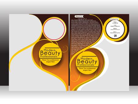 salon beaut�: Beauty Parlor Flyer Template illustration vectorielle