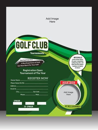 golf tee: GOLF FLYER TEMPLATE VECTOR ILLUSTRATION   Illustration