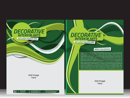 interior designer: Interior Designer Flyer Vector illustration  Illustration
