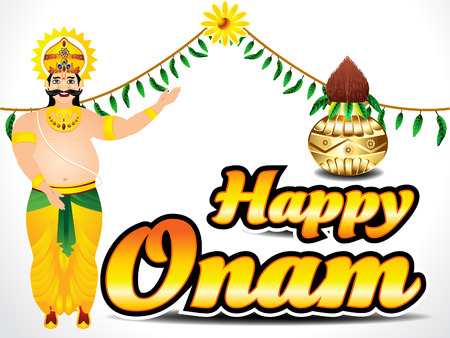 onam: Happy Onam Background Vector illustration